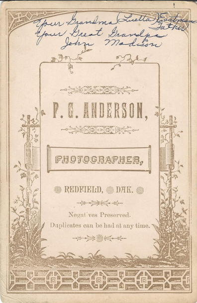 P.G. Anderson, Photographer