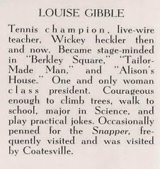 Louise Gibble Yearbook Bio