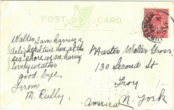 killarney postcard back