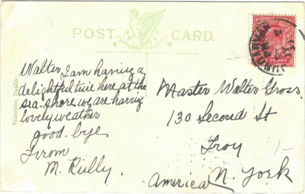 killarney postcard back