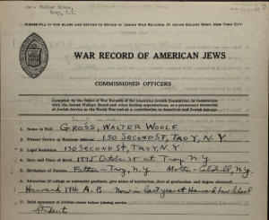 walter gross war record