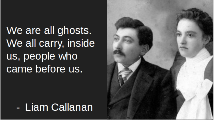 We are all ghosts ...