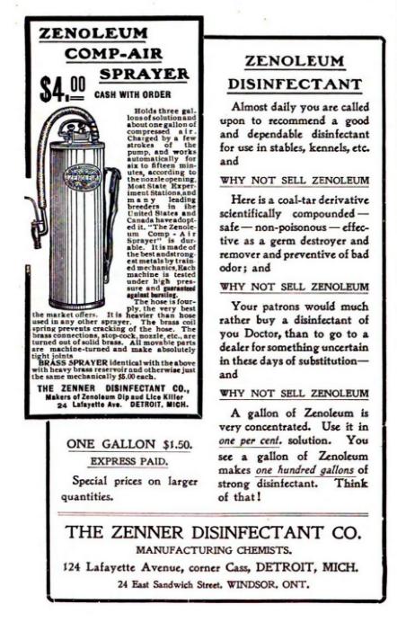 Zenoleum Ad 1908