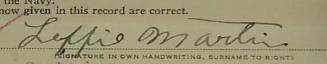 Leffie Martin Signature