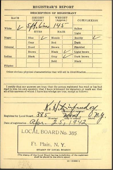 WWII Registration 2