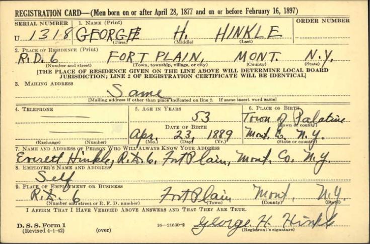 WWII Registration